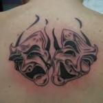 Maske dovme mask tattoo 7